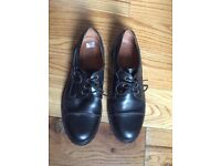 THE SHOES- black leather size 45 Used