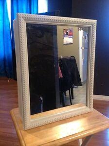 Storage cabinet mirror