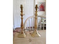 Brass candle stick lamp bases