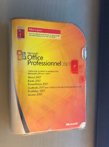 Brand New – Sealed - Microsoft Office Intégrale 2007 (French)