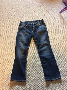 Silver straight leg jeans