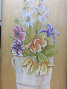 "Board ""Bouquet"" oil Painting"