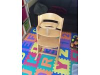 Wooden high chair - BabyDan danchair