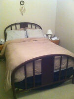 Queen Size Bed incl. mattress, box spring, and frame