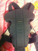 Chic Jean Baby Bjorn Carrier with Gold Accents