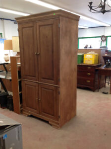 Cabinet that converts into desk