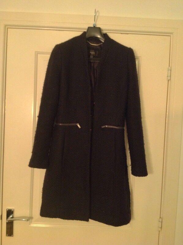 Women's black overcoat - Mango suit size small