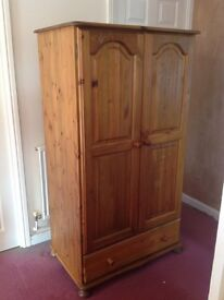 Solid Pine Wardrobe - Collection Only