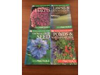 8 Gardening books by The Royal Horticultural Society