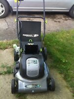 Earth wise cordless electric lawnmower 24 volts