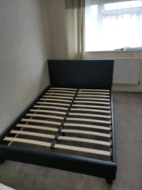 Double bed frame Black