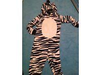 Girls zebra onesie 11-12 yrs