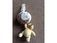 Classic Winnie the Pooh cot musical pull toy