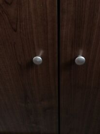 Walnut effect cupboard