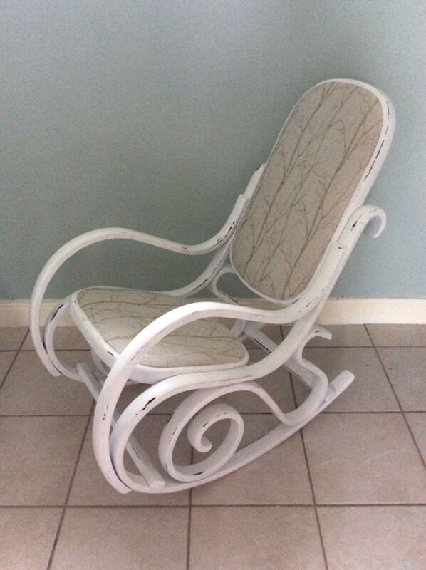 Vintage Bentwood Shabby Chic Rocking Chair Nursery Chair