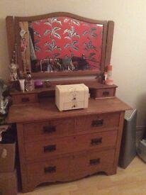 Solid wooden vintage dressing table