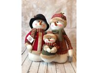 Heaven sends Christmas plush snowman family figure 45cm