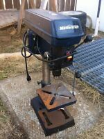 Mastercraft bench top drill press for sale