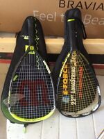 Racquetball e-force and wilson