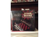 Still in cellophane wrapping - Star Wars Episode one Chess Set