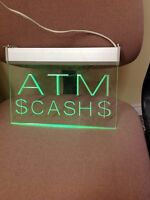ATM HANGING LIGHTED WINDOW SIGNS