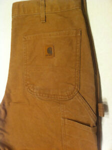 Carhartt  Brown work pants. Made in the USA. New. Size 34x34