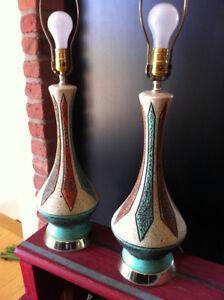 lampes midcentury, lampe rétro