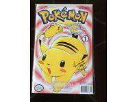 Pokemon signed 1st edition comic