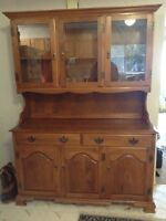 Maple Hutch and Dining Room Set