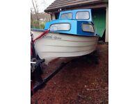 Mayland Marine 14' fishing pleasure boat with trailer