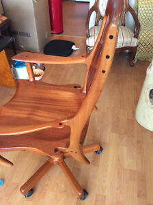 Hand Carved Bobby Grace Desk Chair