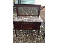 Edwardian 3 piece bedroom set ; washstand, dressing table and wardrobe