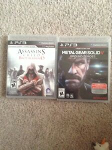 Assassins Creed Brotherhood + Metal Gear Solid V for sale