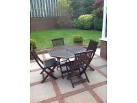 Garden set 4 chairs and table