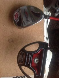 Golf clubs putter and rescue club l/hand