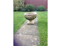 Solid stone patterned planter