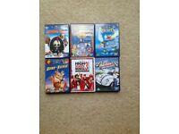 6 Disney DVD's