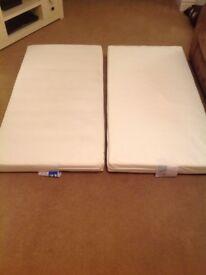 Cotbed pocket sprung mattresses