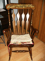 Solid decrative good sized rocking chair