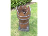Reclaimed Chimney 8 point Victorian crown top chimney pot Ex Con