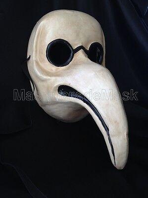 Plague Doctor Curved Nose Venetian Bird Mask Man boys Halloween Costume Party (Venetian Doctors Mask)