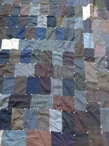 Vintage quilt made from men's suit. CHECK OUT MY OTHER ADS