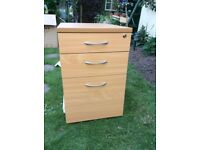 Brand New Tall MOBILE PEDESTAL 3 Drawer with Filing Drawer.