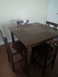 Dining Table & 4 Chairs - Bar Height - Free Coffee Table - $125