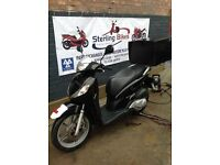 HONDA SH SH125 BLACK 1 YEAR MOT NEW TYRES - STERLING