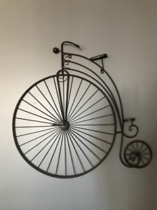 Bike metal wall art