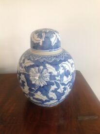 Blue and white China Ginger jar