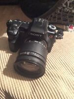 SONY A700 CAMERA WITH 3 lenses