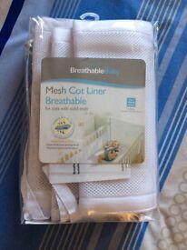 Breathablebaby mesh cot bumper