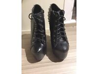 Goth style boots